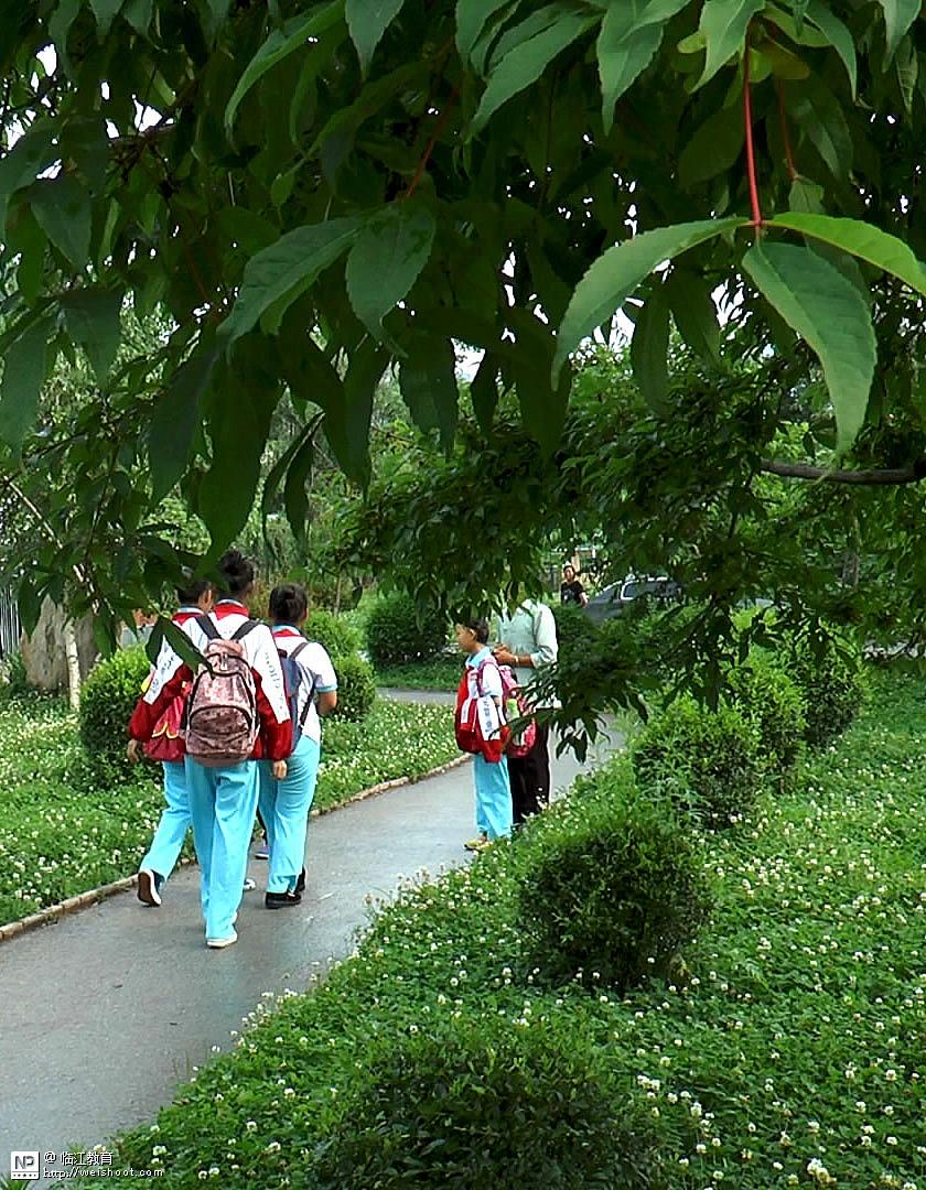 静静的雨后花山校园